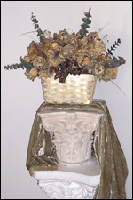 Dried Hydrangea Floral Centerpiece