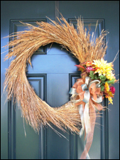 Harvest Grasses Wreath